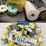 Bee Wreath and Supplies - Summer Palette Idea