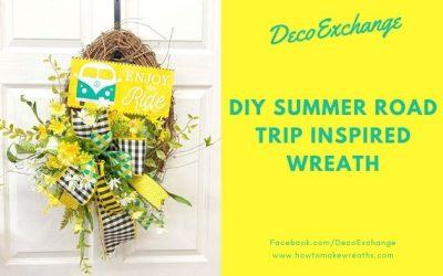 DIY Summer Road Trip Inspired Wreath