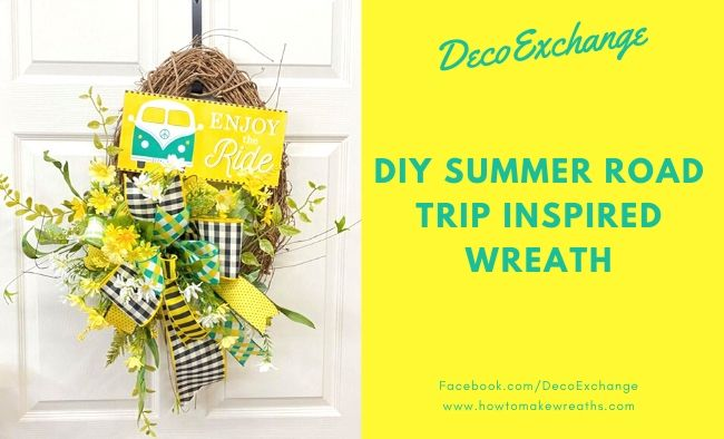 DIY Summer Road Trip Inspired Wreath
