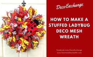 red and yellow ribbon deco mesh wreath