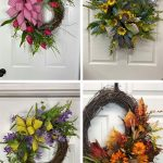 Decorating a grapevine with floral stems