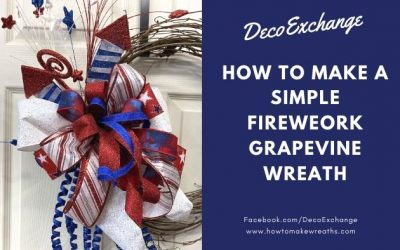 Simple Fireworks Grapevine Wreath