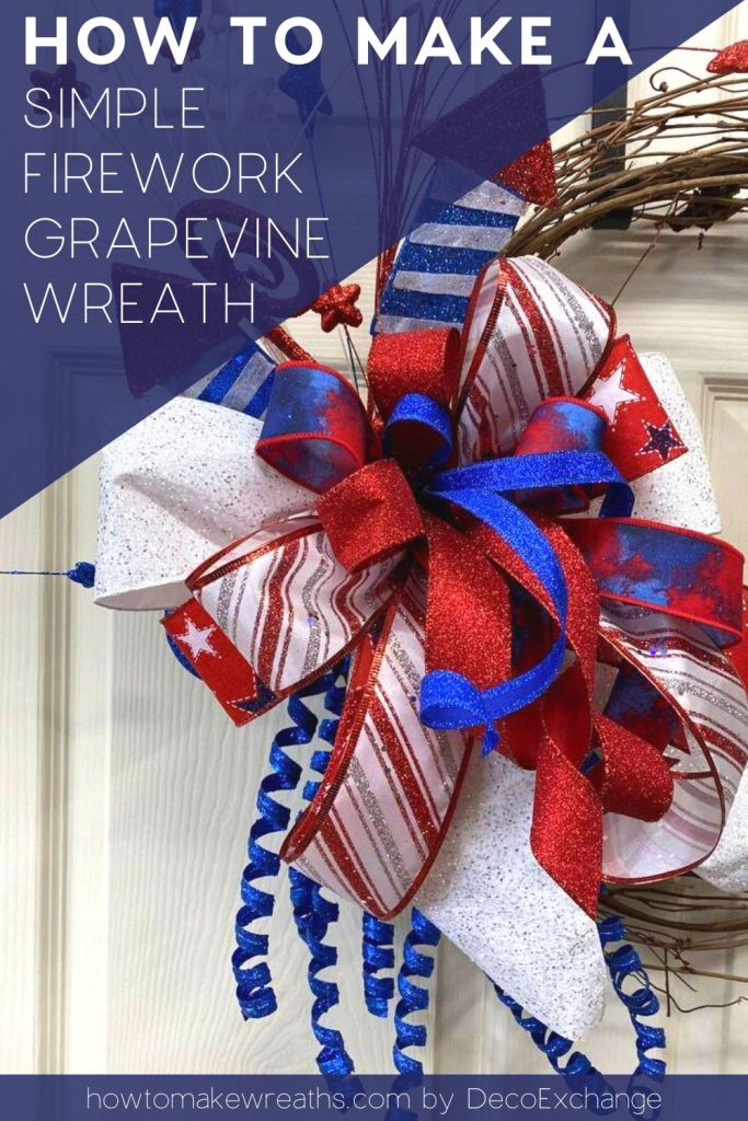 stripe bow, firecracker, grapevine