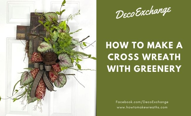 Cross Wreath with Greenery