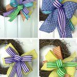 bows on a grapevine wreath