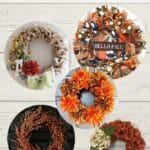 5 different fall wreaths