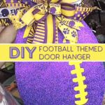 purple helmet ribbon, yellow, ribbon, yellow and purple stripe ribbon in terri bow, purple with yellow laced football