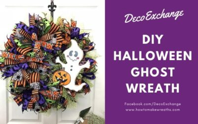 DIY Halloween Ghost Wreath