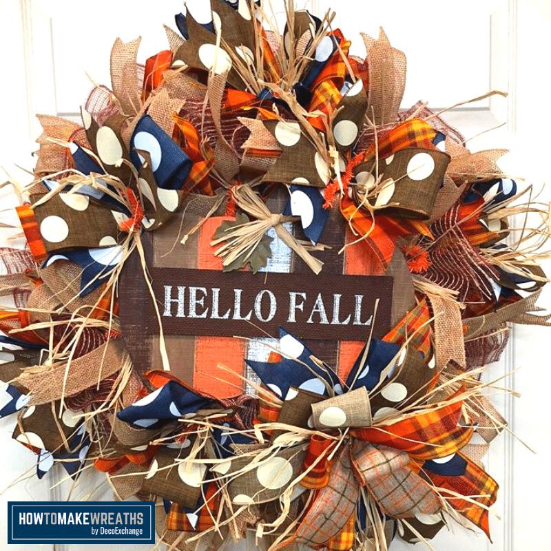 DIY Hello Fall Wreath