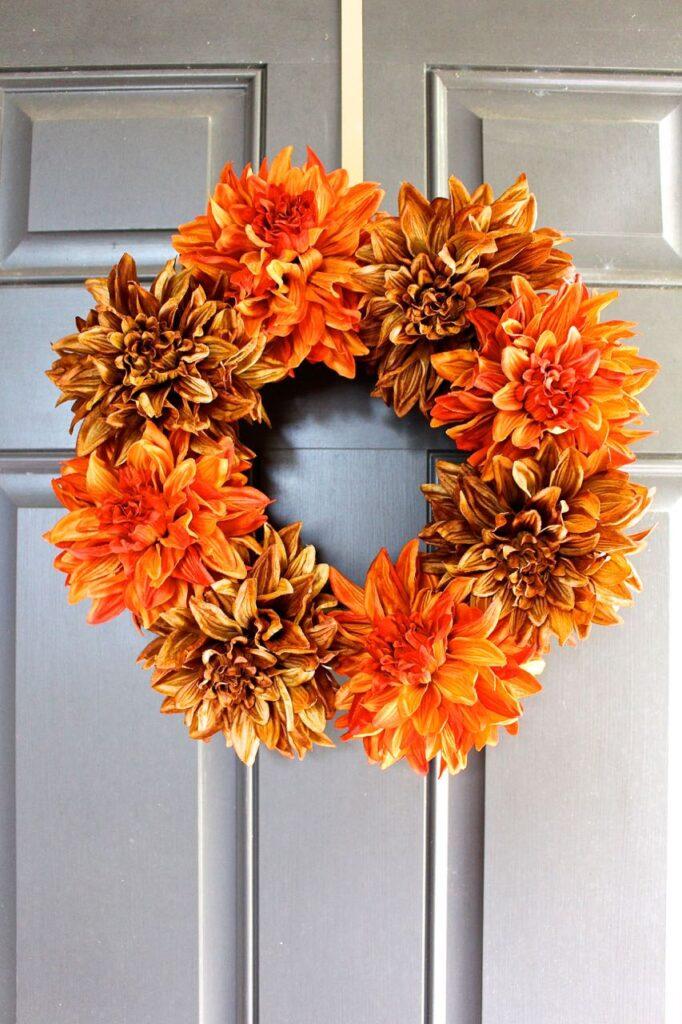 easy bloom fall wreath