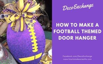 Football Themed Door Hanger