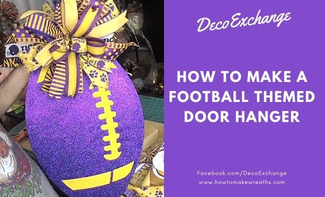 Football Themed Door Hanger