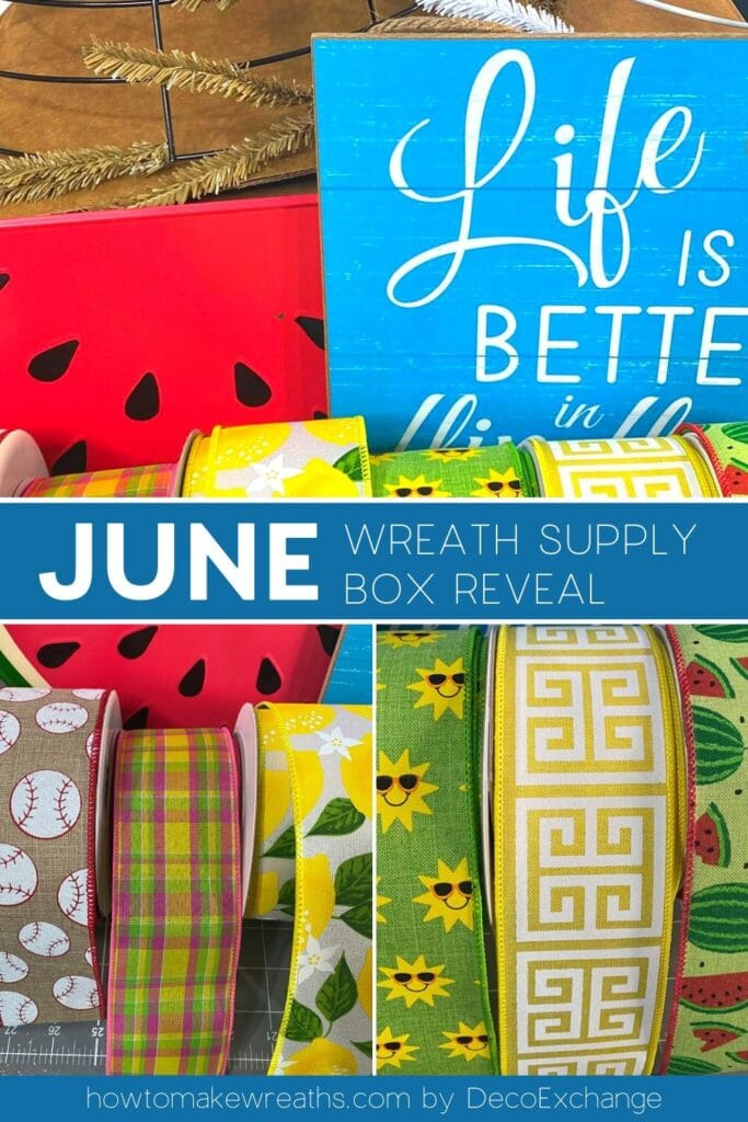 summer signs and ribbons