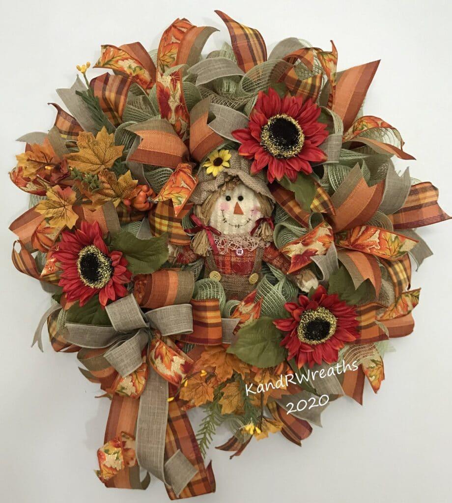 scarecrow fall wreath