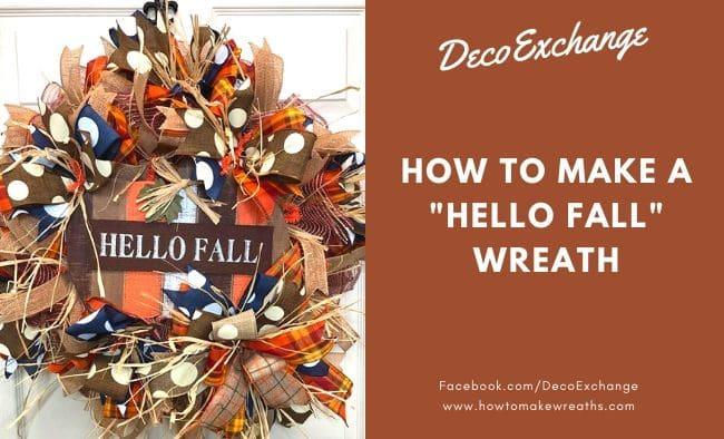 "How to Make a ""Hello Fall"" Wreath"