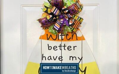 Make Your Own Candy Corn Door Hanger