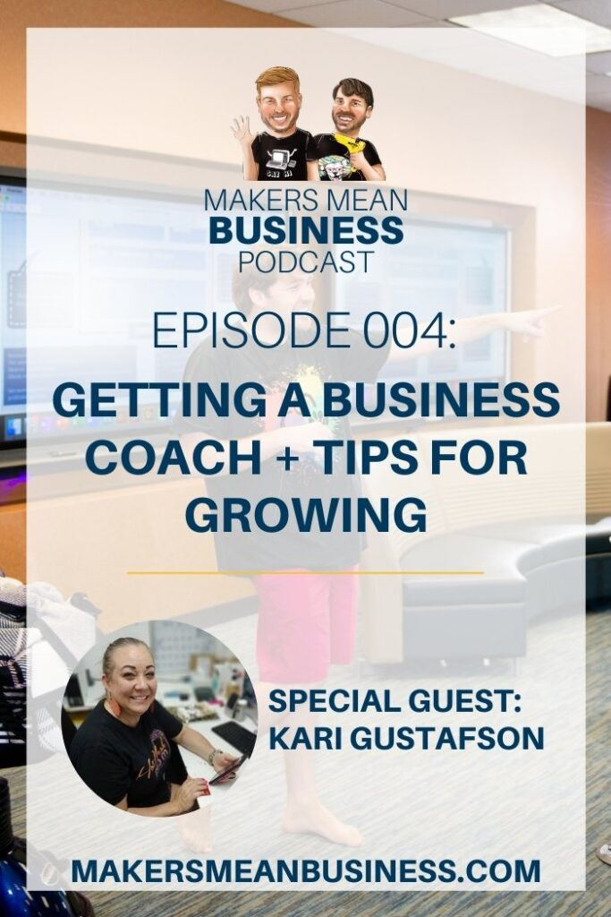 Text - Getting a Business Coach Image - Damon Oates teaching a live class