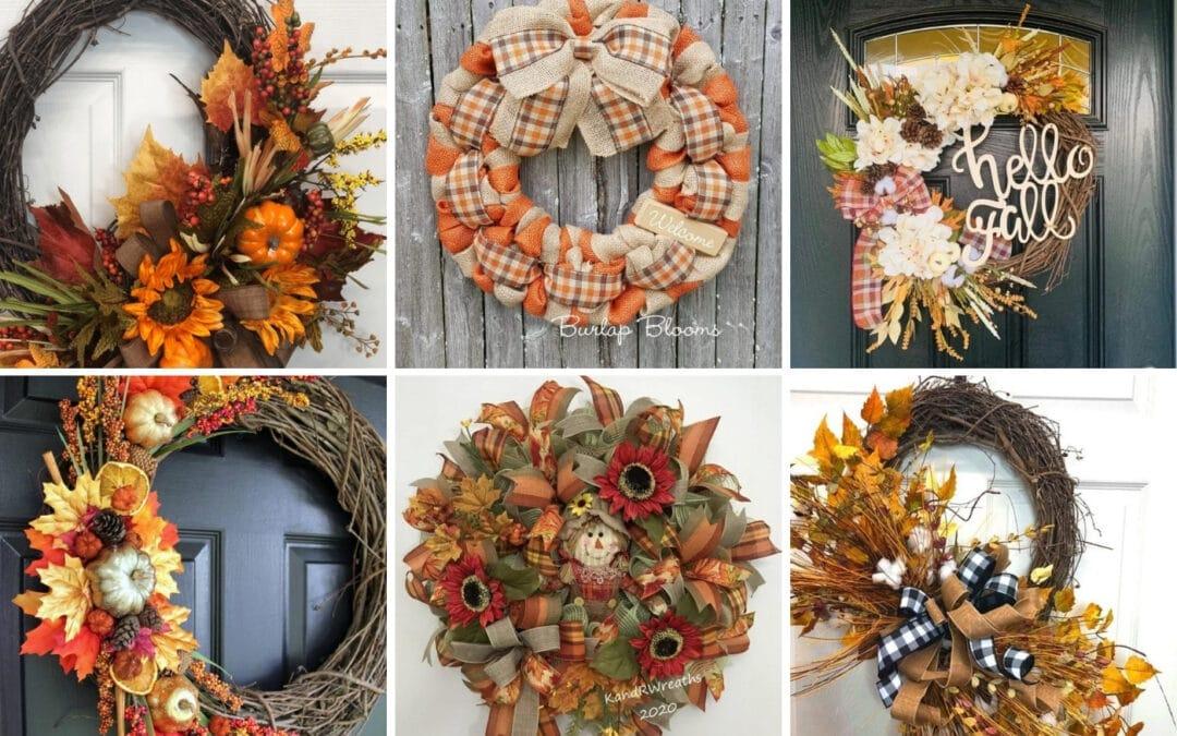 17 Inspiring Fall Wreaths for The Front Door