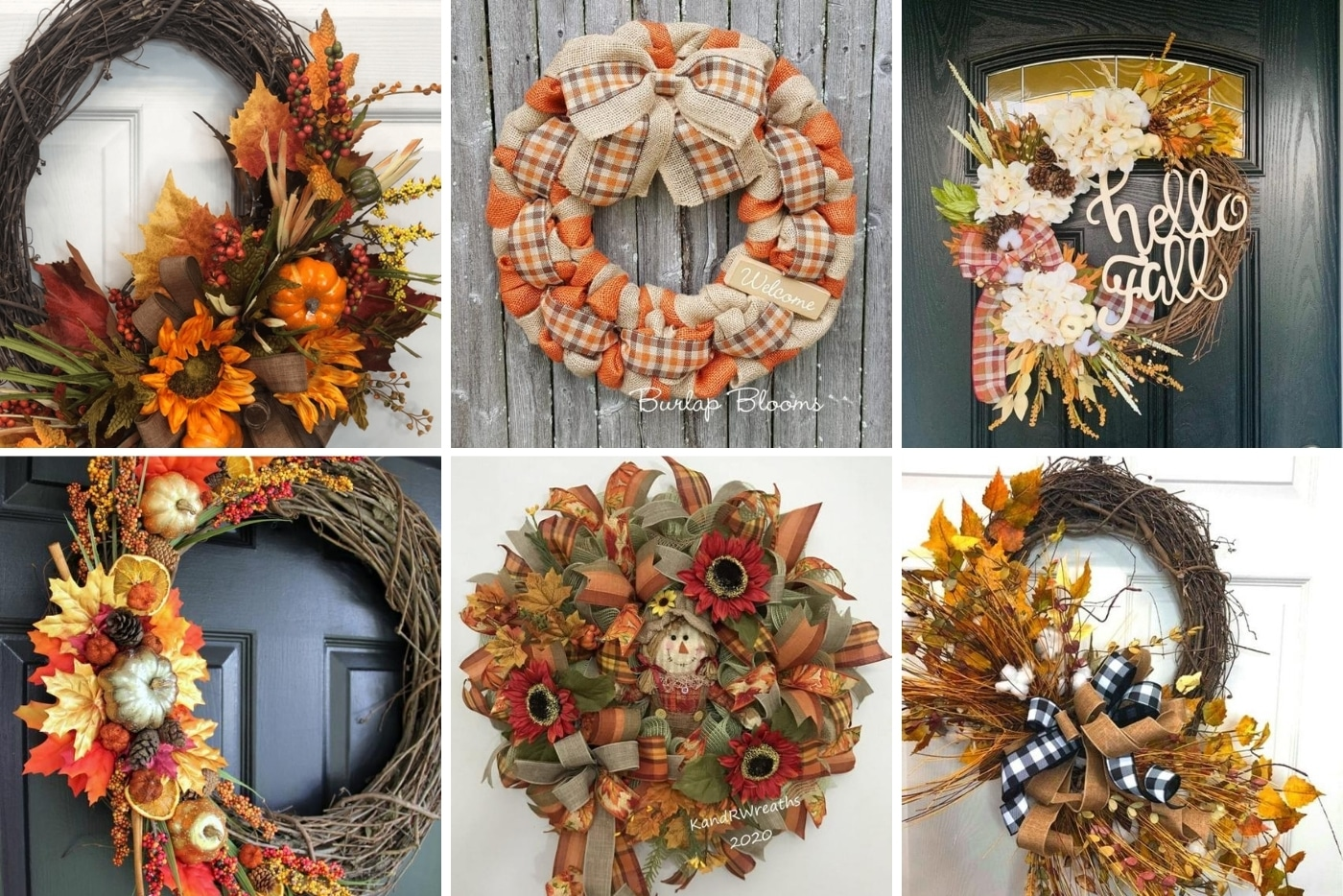 17 Inspiring Fall Wreaths For The Front Door How To Make Wreaths Wreath Making For Craftpreneurs