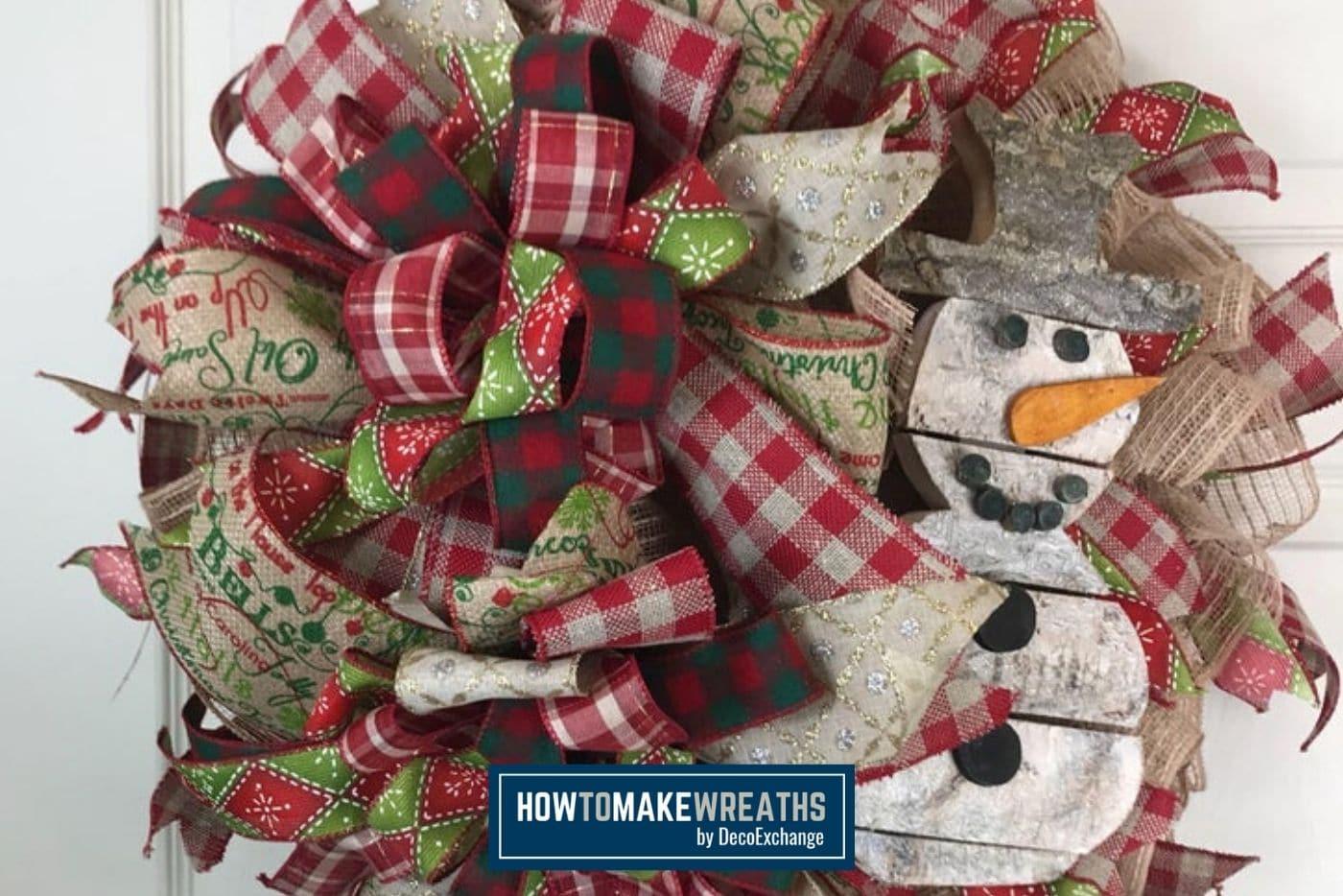 Burlap Snowman Wreath How To Make Wreaths Wreath Making For Craftpreneurs