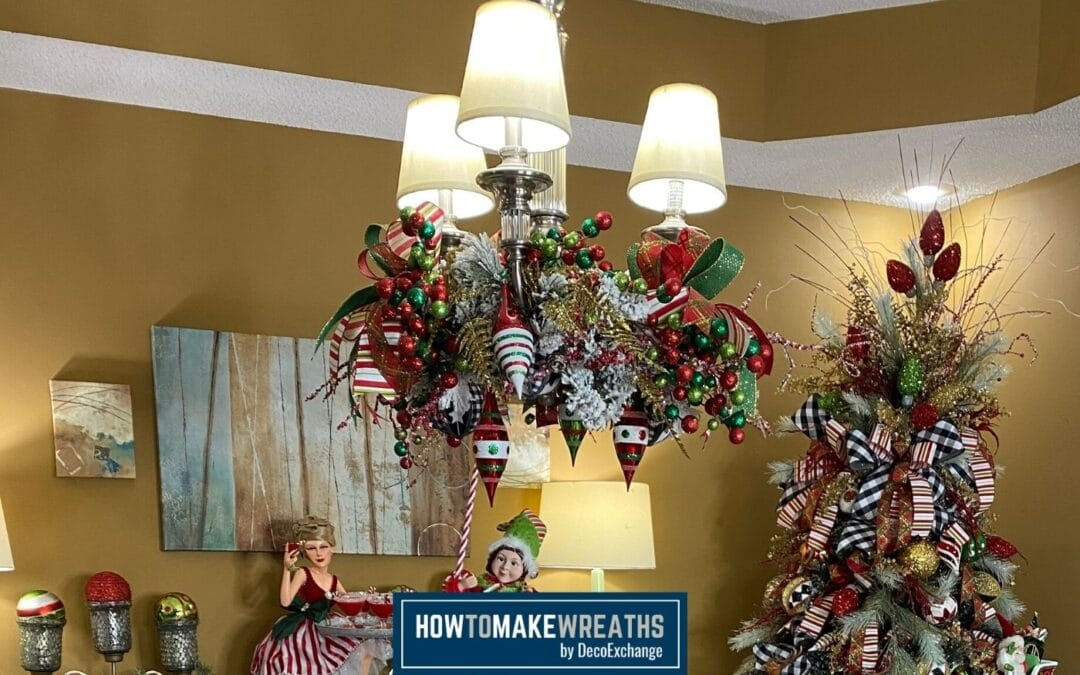 DIY Chandelier Christmas Decor: Quick and Simple