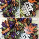 mesh, ribbon, and pineapple shaped mummy wreath
