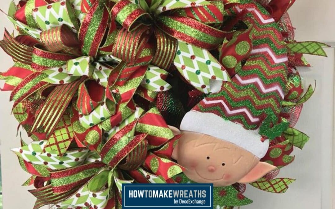 Deco Mesh Elf Wreath
