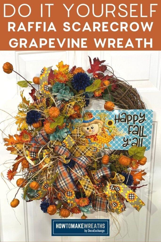 Raffia Scarecrow Wreath How To Make Wreaths Wreath Making For Craftpreneurs