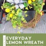 pin stripe bow on lemon wreath