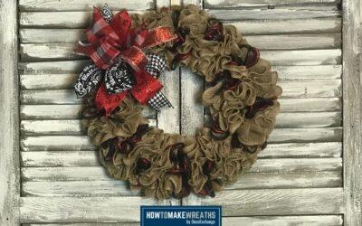 How To Make A Burlap Wreath: Ruffled Burlap Wreath