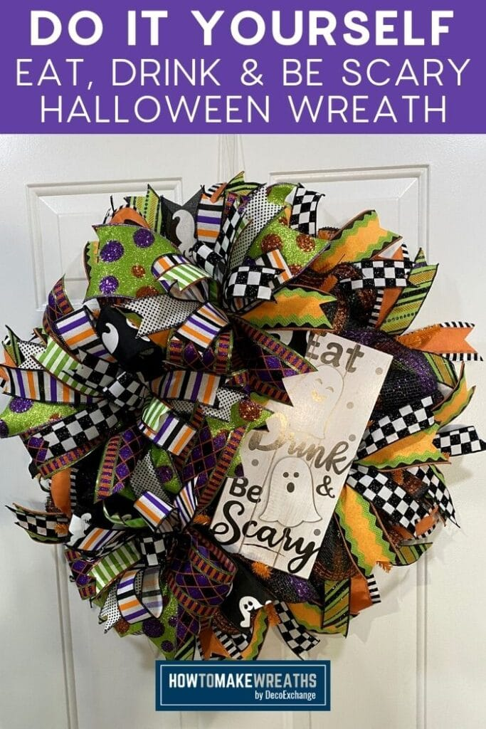 Do It Yourself Eat Drink and Be Scary Halloween Wreath