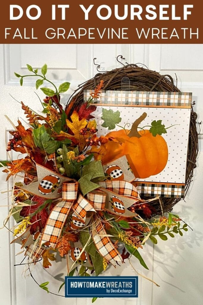 Do It Yourself Fall Grapevine Wreath