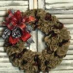 How to Make a Burlap Ruffle Wreath