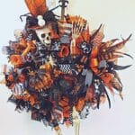How to Make a Skeleton Deco Mesh Wreath