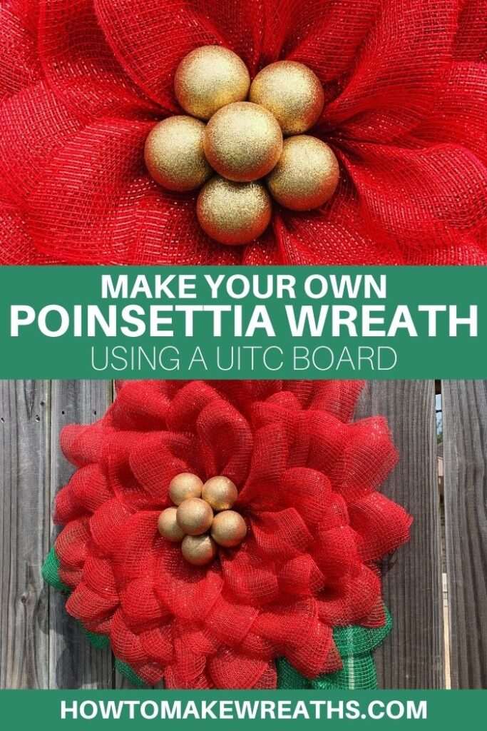Make Your Own Poinsettia Wreath using a UITC Board