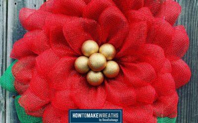 DIY Poinsettia Wreath Using The UITC Flower Board