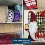 various wreath making supplies