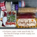 various wreath supplies for Christmas and Fall