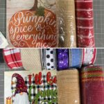 various fall and christmas wreath supplies