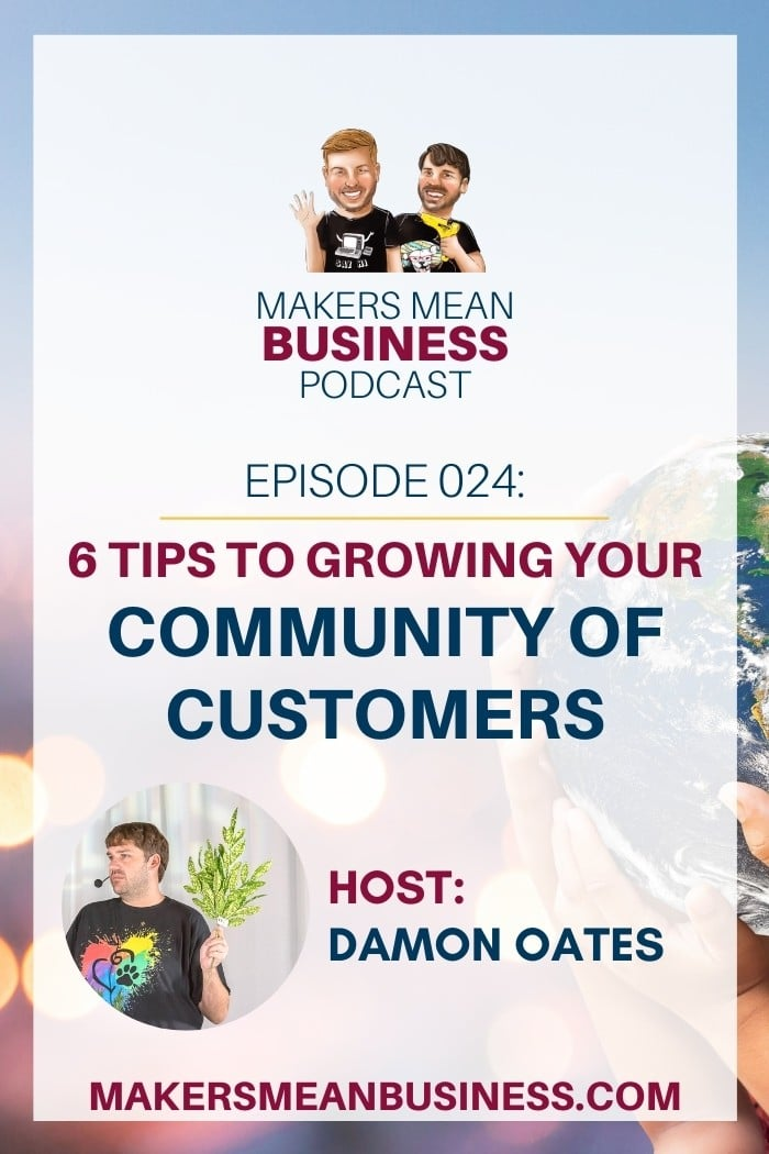 "image of a person holding a globe in the background and text in the foreground ""6 Tips to Growing Your Community of Customers"""