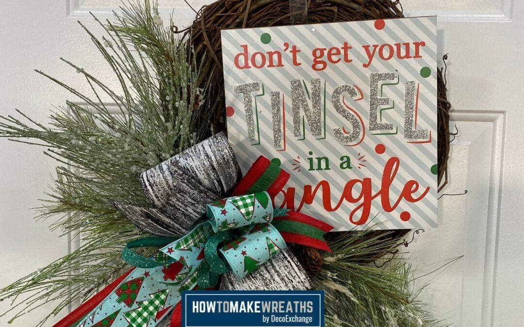 DIY Christmas Grapevine Wreath