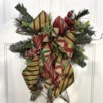 DIY Grapevine Christmas Bow Door Hanger
