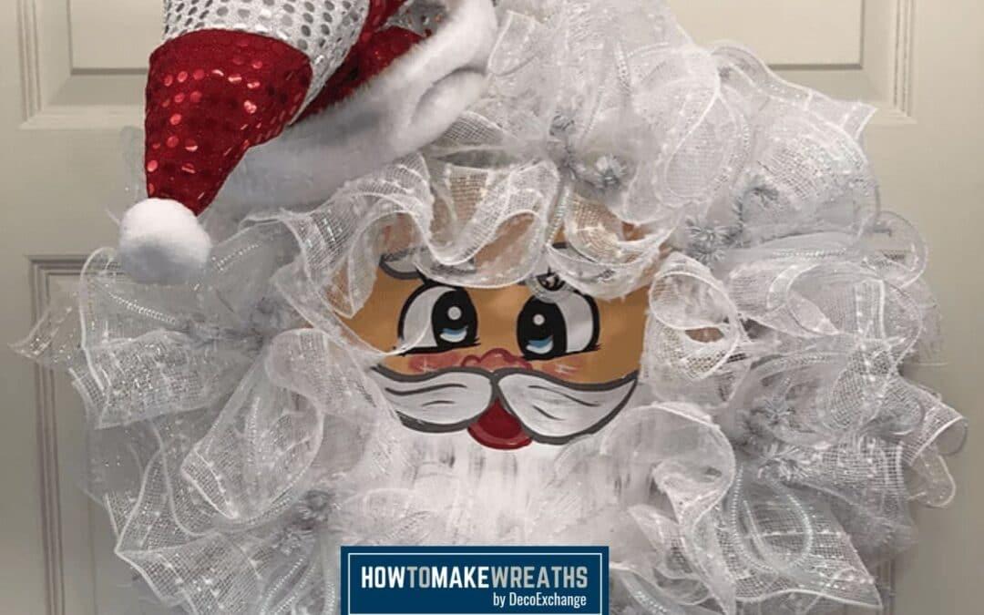 How To Make DIY Christmas Wreath With Vintage Santa