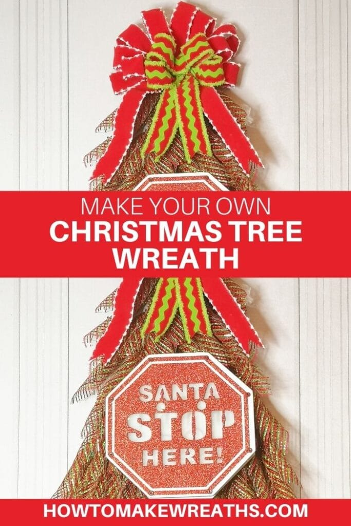 Make Your Own Christmas Tree Wreath