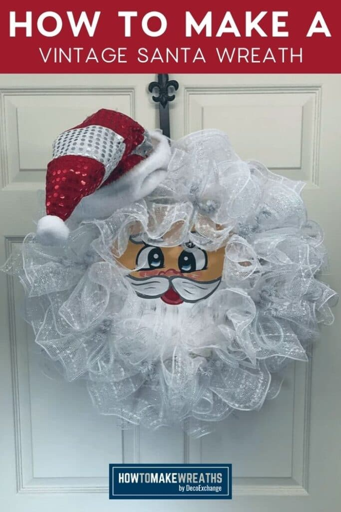How to Make a Vintage Santa Wreath