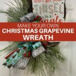 Make Your Own Christmas Grapevine Wreath