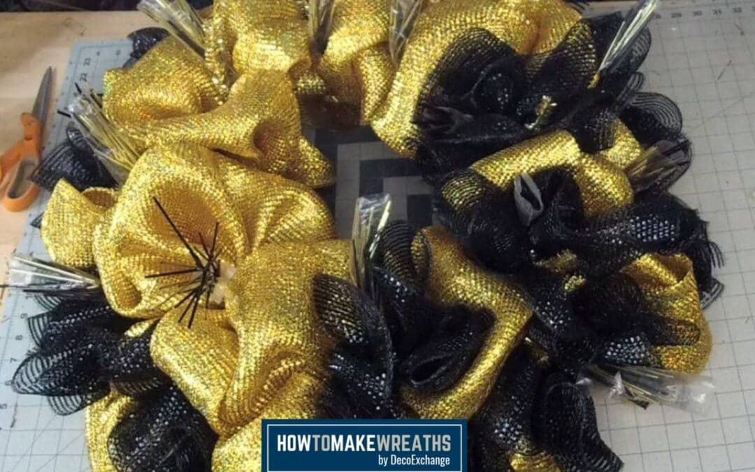 How To Make A Deco Mesh Wreath Base