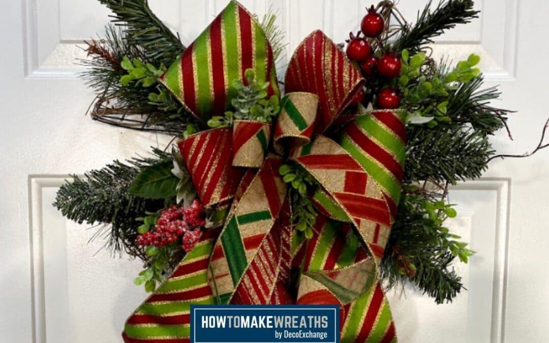 Grapevine Bow Upcycle Door Hanger