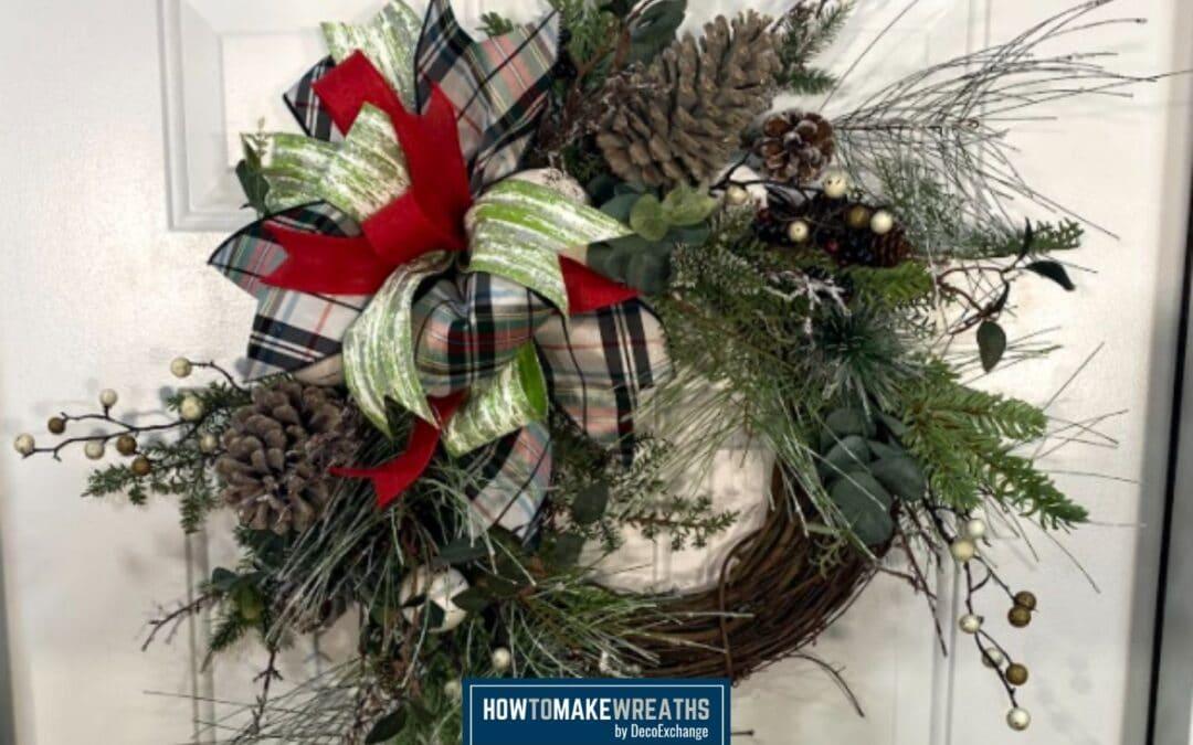 Grapevine Christmas Pine Wreath