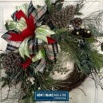 Grapevine Christmas Pine Wreath